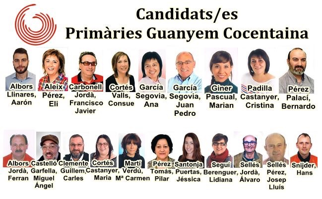 Candidats Guanyem Cocentaina