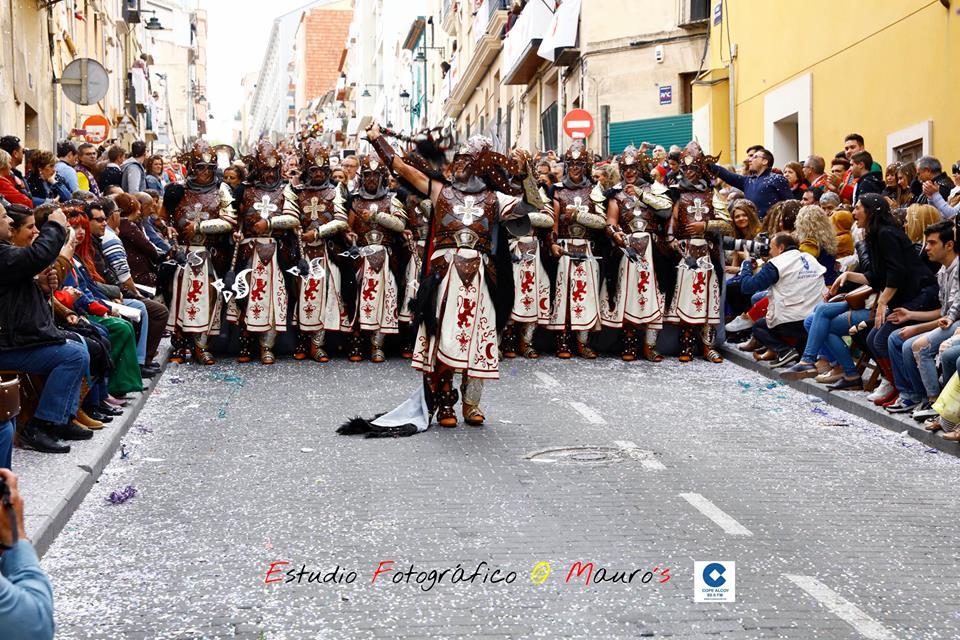 Los Mozárabes presentaron una guerrera escuadra de negros / Foto: Estudio Fotográfico Mauro´s