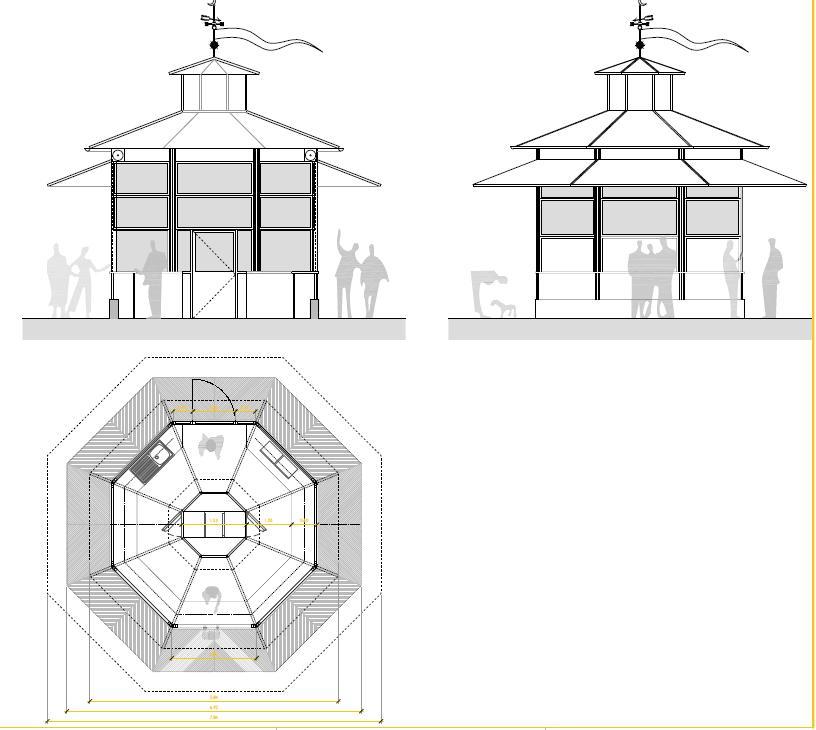 Diseño del quiosco que se quiere instalar en La Glorieta