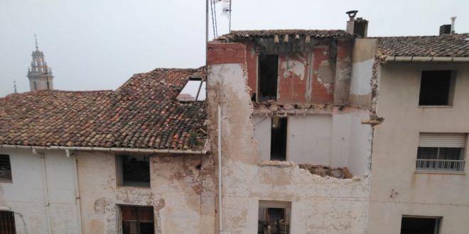 Cocentaina inicia la demolición de los inmuebles afectados por Gloria